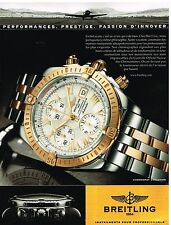 Publicité Advertising 2006 La Montre Breitling chronomat evolution
