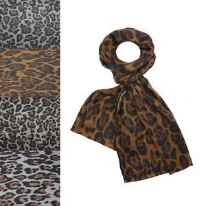 NEW Animal Leopard Print Scarf Shawl Long Large Warm Soft Wool Winter Autumn UK
