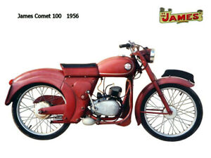 Motorcycle Canvas Picture James Comet 100 1956 Canvas 16x12 inch