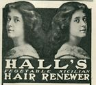 1903 TWINS QUACK HAIR GROWTH Renew COLOR Treatment Original Paper Print Ad 4579