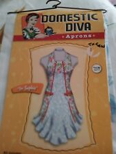 Domestic Diva Aprons Pre-Printed Fabric Panel-Sew Your Own Apron-The Sophie-MIOP
