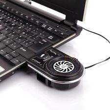 Mini Vacuum Notebook Laptop PC LED USB Cooler Air Extracting Cooling Pad Fan