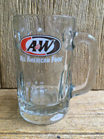 A&W Root Beer Glass Mug Super Thick & Heavy Chunky Glass Vintage
