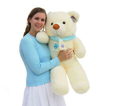 "Joyfay® Big 39"" 100cm White Giant Teddy Bear Stuffed Plush Toy Valentines Gift"