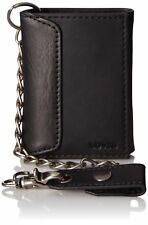 Levi's Men's Trifold Wallet with Chain Black One Size