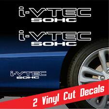 iVTEC SOHC 2X decal sticker vinyl *WHITE Honda Civic Acura