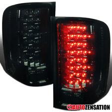 07-14 Chevy Silverado Pickup Smoke LED Tail Lights Rear Brake Lamps Pair L+R