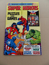 Super Heroes Puzzles & Games . General Mills Promo. Marvel 1979 . VF