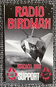 Original Collectors RADIO BIRDMAN Support Sticker For Laminate