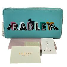 Radley London Lights Large Purse Blue Aqua Leather Card Wallet