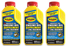3X RISLONE ENGINE OIL SUPPLEMENT WITH ZINC ZDDP & PHOSPHORUS TREATMENT 11 OZ