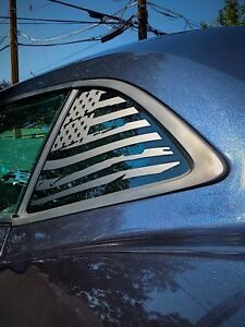 Chevrolet Camaro Distressed American Flag Window Decal 2010-2015