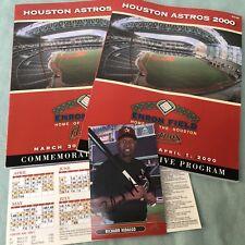 Houston Astros 2000 Commemorative Program Enron Field Richard Hidalgo Autograph
