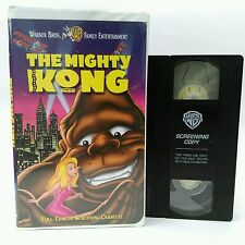 The Mighty Kong animated musical cartoon movie VHS clamshell ADVANCE SCREENER