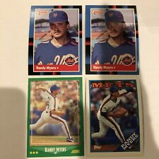 1988D #620 Randy Myers, + 88T #412+ 88S #336 Lot Of 4 Cards