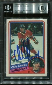 HOF CHRIS CHELIOS signed autographed 1984-85 OPC ROOKIE CARD RC BECKETT (BAS)