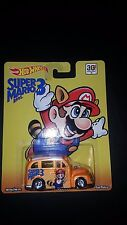 HOT WHEELS POP CULTURE BENT CARD SUPER MARIO BROS. 3 SCHOOL BUSTED SAVE 5%