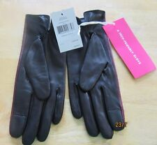 kate spade leather gloves midnight (black) & wine color -Size 1-Tech friendly