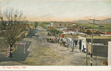 El Paso TX * Street View in 1880  * ca. 1908 Post Card