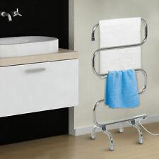 Electric Heated Towel Warmer Freestanding 5 Bars Stainless Steel Dryer Rail Rack