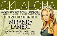 the beautiful Miranda Lambert fun Id card Drivers License gal of Blake Sheldon