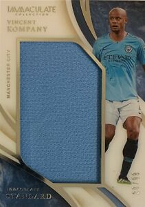 2020/21 Panini Immaculate Soccer - Vincent Kompany Card - Man City #30/99