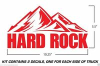 Jeep Wrangler Vinyl Decals Rubicon Sahara Unlimited X Stickers Hard Rock RED X2