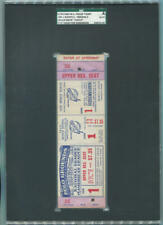 """1954 World Series Game 1 Proof Full Ticket. Willie Mays """"Catch"""". NY Giants. SGC"""