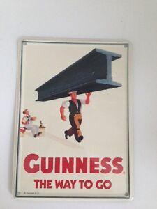 Guinness Bier - THE WAY TO GO STAHLTRÄGER  - Mini Blechschild Blechkarte sign 24