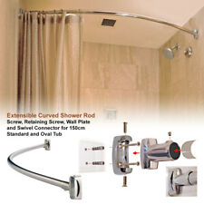 bowed rods showercurtain curtain curved shower options rod
