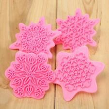 Snowflake Flower Stamp Cake Decorating Cutter Mold Chocolate Cookie Pastry New