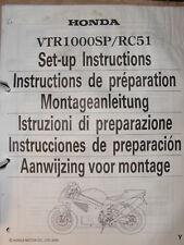 HONDA VTR1000 SP /RC51 Original Montageanleitung / Set-up Instructions Bj.2000