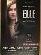 ELLE - PAUL VERHOEVEN  2017  MOVIE  orig. FILM POSTER - PROMO   A1 NEU