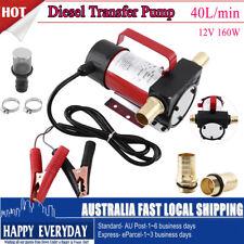 12V DC Fuel Oil Diesel Transfer Pump Truck 160W Heavy Duty 40 L/min Self Priming