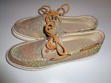 SPERRY TOP SIDER MULTI COLOR CANVAS Size 9.5 medium~~GENTLY WORN, CLEAN