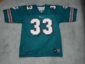 Karim Abdul-Jabbar Miami Dolphins Reebok Jersey Reversible Size 48