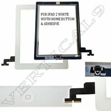 White Screen For iPad 2 Touch Front Glass Digitizer Replacement With Home Button