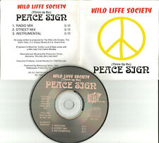 WILD LIFE SOCIETY Peace Sign 3TRX MIX & INSTRUMENTAL PROMO CD single wildlife