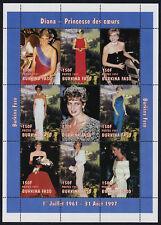 Burkina Faso 1090a MNH Princess Diana, Flowers