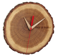 ANALOGE WANDUHR TREE O CLOCK TFA 60.3046.08 BAUMSCHEIBENUHR EICHE QUARZ UHRWERK