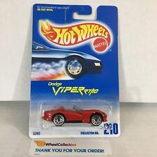 Dodge Viper RT/10 #210 * RED w/ Lace Rims * Blue Card Hot Wheels * NE6