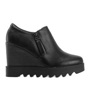Black wedge boots Jazlyn