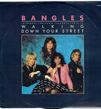 """BANGLES - 12"""" - Walking Down Your Street (Extended Remix) UK Picture Sleeve. CBS"""