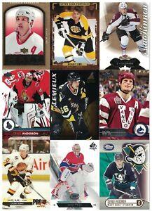 1000 verschiedene NHL Tradingcards – viele Serien – mit Inserts und Rookies