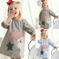 Toddler Baby Kids Girls Princess Summer Casual Christmas Dress Sundress Clothes