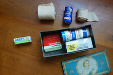 VINTAGE  FIRST AID TIN CASE AND CONTENT