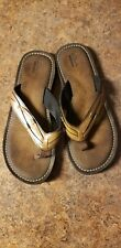 NEW Clarks Collection Women's 15906 Brown Sandal Flip Flops US 10M  EU 41.5