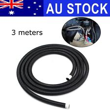 AU AN8 8AN 10ft 3 Meters Nylon Stainless Steel Braided Oil Fuel Gas Line Hose
