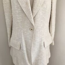 Chanel Suit 99P Skirt Suit Cotton Blend Ivory Boucle High Waist Long Skirt 38