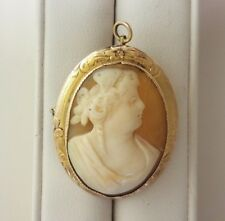 Yellow Gold Cameo Pendant/Brooch